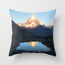 Matterhorn Sunrise Throw Pillow