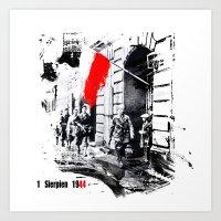 poland Art Prints featuring Warsaw Uprising, Poland - 1944 by viva la revolucion