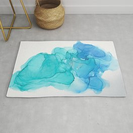 A pool of Mermaid Tears Rug