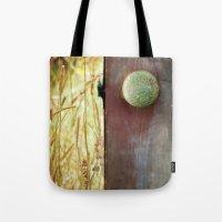 door Tote Bags featuring Door by Joyce Vincent