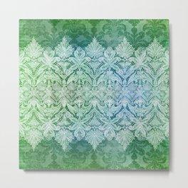 ABERDEEN HEIRLOOM, LACY DAMASK: OLD KELLY GREEN Metal Print