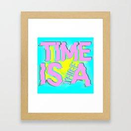 Glitch In Time: Thief Framed Art Print