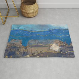 Cities under the Water - Surreal Climate Change Rug