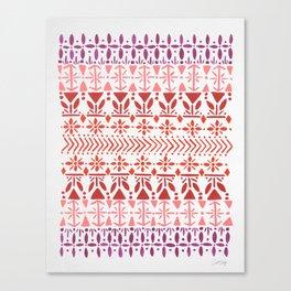 Norwegian Pattern – Reds & Corals Canvas Print