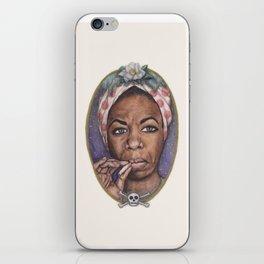 Watercolor Painting of Nina Simone iPhone Skin