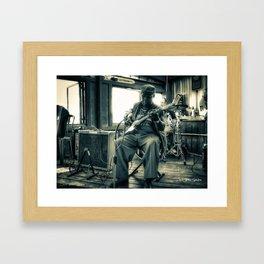 Hosea Hargrove, The Godfather Of Austin Blues Framed Art Print