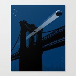 A UFO flies in Brooklyn Canvas Print