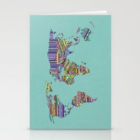 decal Stationery Cards featuring Overdose World by Bianca Green