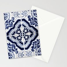 blue tile pattern VII - Azulejos, Portuguese tiles Stationery Cards