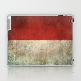Old and Worn Distressed Vintage Flag of Indonesia Laptop & iPad Skin