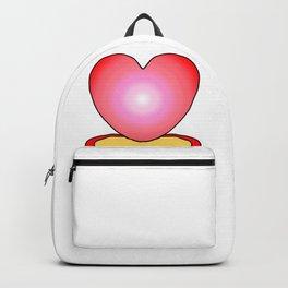Cute Cactus Love Heart Shape Illustration Vector Backpack