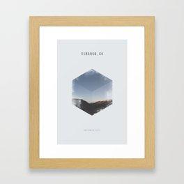 Minimalist Travel Poster - Durango, CO Framed Art Print