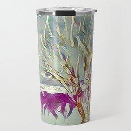 Winter Trees Purple Teal Gold Buffalo by CheyAnne Sexton Travel Mug