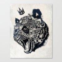 panda Canvas Prints featuring Panda by Feline Zegers
