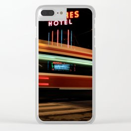Red Rocket 7 Clear iPhone Case