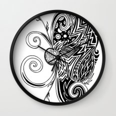 Spirit of Spring B&W Wall Clock
