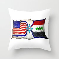 flag Throw Pillows featuring Flag by ℳajd