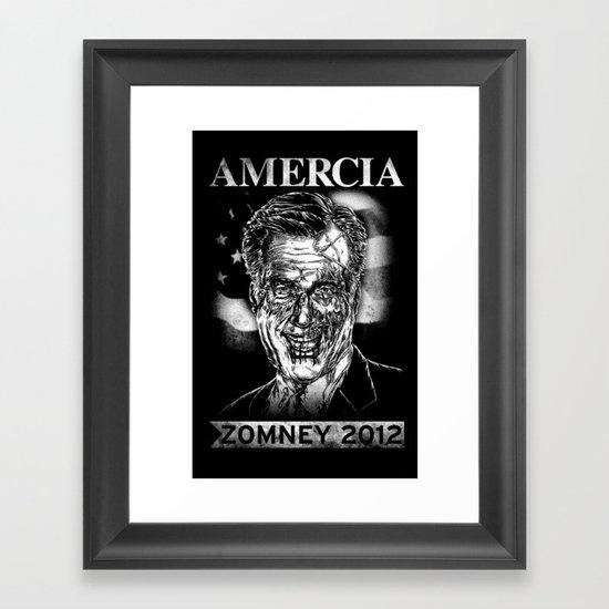 Zomney for Amercia Framed Art Print