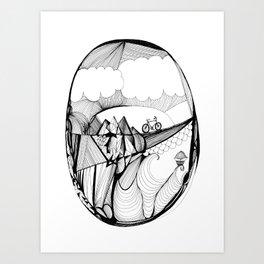 Over the Hills Art Print