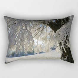 Frost Covered Tree Rectangular Pillow