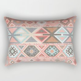 Aztec Artisan Tribal in Pink Rectangular Pillow