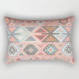 Aztec Artisan Tribal in Pink Rectangular Pillow