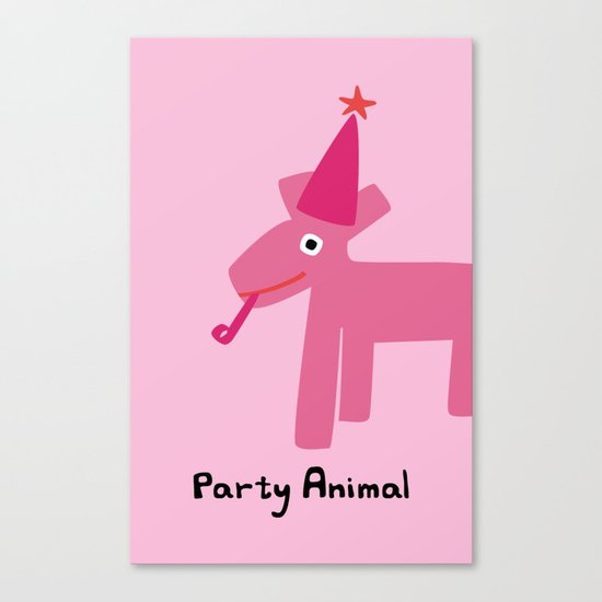 Party Animal-Pink Canvas Print