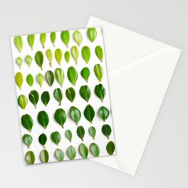 ombre leaves Stationery Cards
