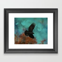 Soaring Crow Framed Art Print