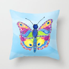 Butterfly II on a Summer Day Throw Pillow
