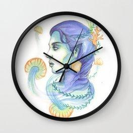 Mermaid Woman With Jellyfish Wall Clock