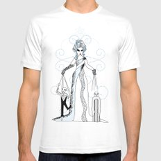 Libra / 12 Signs of the Zodiac SMALL Mens Fitted Tee White