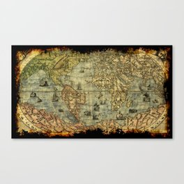 Vintage Old World Map Canvas Print