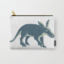 Aardvark Scratchboard Style Carry-All Pouch