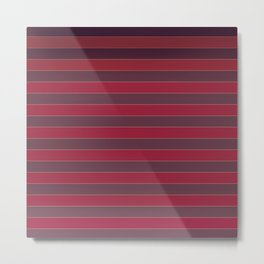 Striped red Metal Print