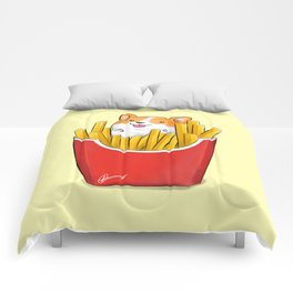 French Corgi Fries Comforters