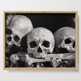 Skulls And Bones Serving Tray