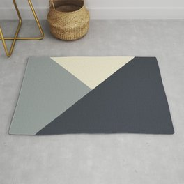 Origami Geo Tile // Gray monochrome Rug