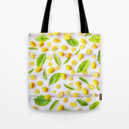 Fruits and leaves pattern (22) Tote Bag