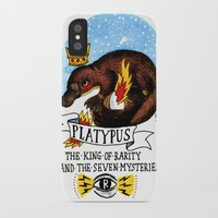 platypus iPhone & iPod Cases featuring Platypus by Ricardo Cavolo