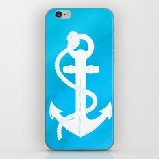White Anchor iPhone Skin
