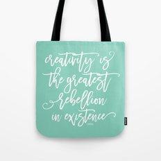 creativity rebellion Tote Bag