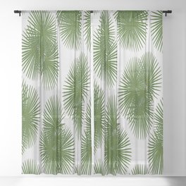 Fan Palm, Tropical Decor Sheer Curtain