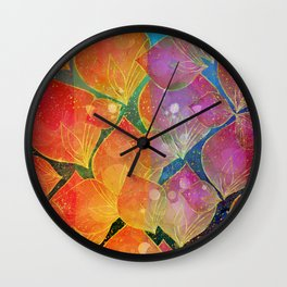 Colorful foliage Wall Clock
