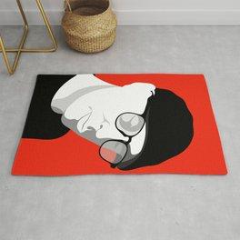Cap & Glasses Minimal Portrait Rug