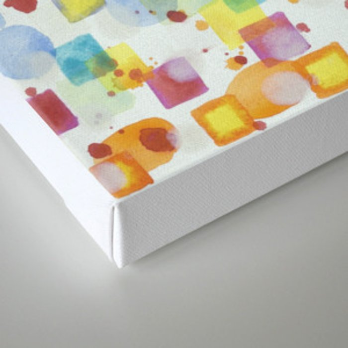Light Squares with Drops Pattern Canvas Print