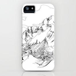 Mount Dunkirk - Single Line iPhone Case