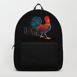 DeColores Cursillo Rooster On Black Backpack