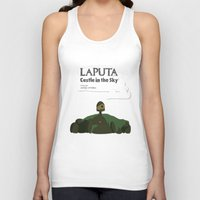 castle in the sky Tank Tops featuring Laputa Castle in the Sky by okayleigh