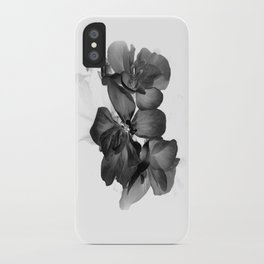 Black Geranium in White iPhone Case